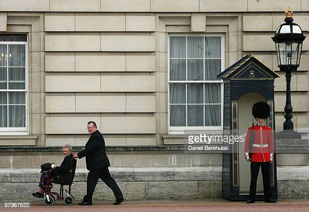 Joyce Kozial departs after her lunch with the Queen at Buckingham Palace on April 19, 2006 in London, England. TRH Queen Elizabeth II and Prince...