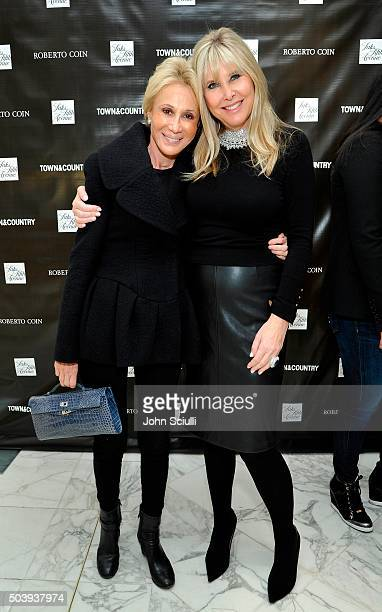 Joyce Krag and Irena Medavoy attend Town Country's Stellene Volandes and Irena Medavoy Celebrate The Golden Globes with a preview of Roberto Coin's...