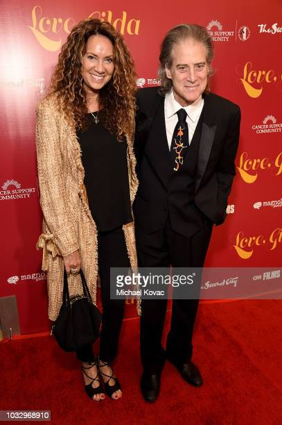 Joyce Lapinsky and Richard Lewis attend the Los Angeles Premiere of 'Love Gilda' at Pickford Center for Motion Study on September 13 2018 in...