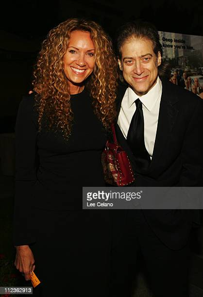 Joyce Lapinsky and Richard Lewis during Curb Your Enthusiasm Season 5 Los Angeles Premiere Red Carpet at Paramount Studios in Hollywood California...