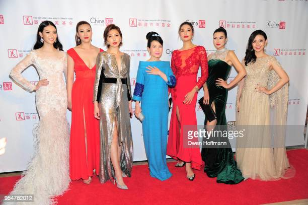 Joyce Li Karen Hu Diana Xu ChiuTi Jansen Roseline Luo Jessica Xue and Jin Ye attend the 2018 China Fashion Gala at The Plaza Hotel on May 4 2018 in...