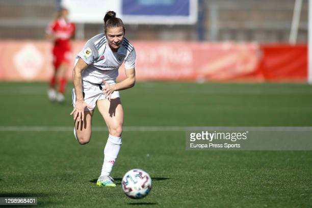 Joyce Magalhaes Borini of Madrid CFF in action during the spanish women league, Primera Iberdrola, football match played between Madrid CFF and...