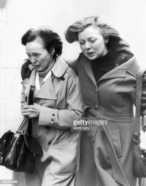 Joyce McKinney in London with her mother Maxine McKinney 8th February 1978 Joyce is on bail accused of the kidnapping of Mormon missionary Kirk...