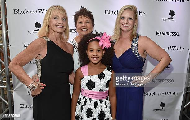 Joyce Rainey Layla Jameson actress Jillian Estell and Kristin Estell attend the Black And White after party presented by Nespresso at West Bar during...