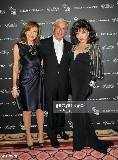 Joyce Reuben Simon Reuben and Joan Collins attend the Reuben Foundation Adventure in Wonderland party in aid of Great Ormond Street Hospital on...