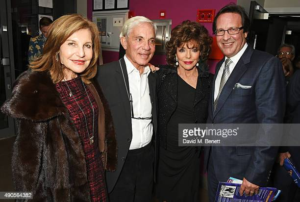Joyce Reuben Simon Reuben Joan Collins and Percy Gibson attend the press night of Pure Imagination The Songs of Leslie Bricusse at the St James...
