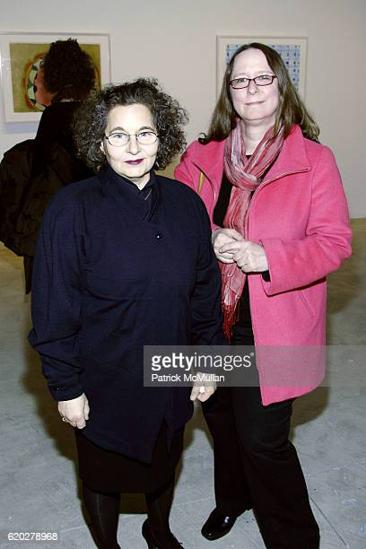 Joyce Robins and Jill Weinberg Adams attend THOMAS NOZKOWSKI Opening Exhibit at Pace Wildenstein Gallery on April 3 2008 in New York City