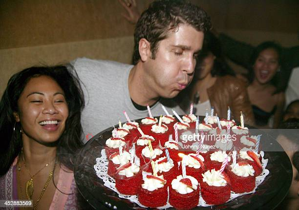 Joyce Sevilla and Chris Stern during Chris Stern of Bad Boy's Birthday Party at Suede in New York City New York United States