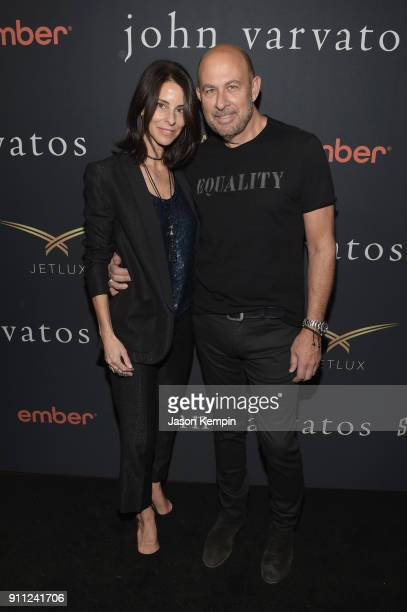 Joyce Varvatos and designer John Varvatos attend the JVxNJ Launch Event at the Angel Orensanz Foundation on January 27 2018 in New York City
