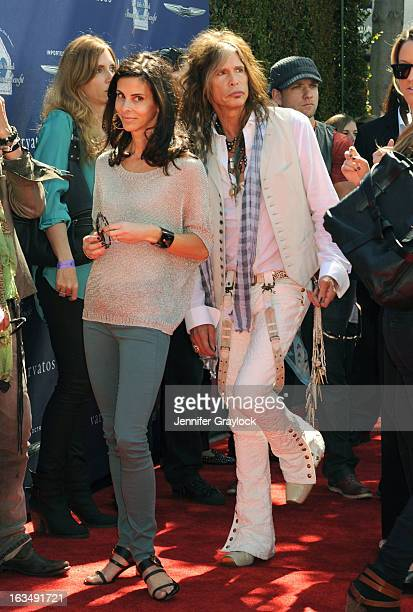 Joyce Varvatos and Musician Steven Tyler attends the John Varvatos 10th Annual Stuart House Benefit held at John Varvatos Los Angeles store on March...