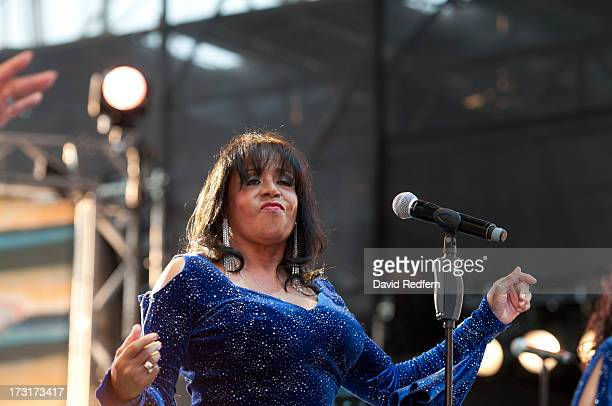 Joyce Vincent and formaly of the Supremes performs during the Jazz A Vienne festival on July 8 2013 in Vienne France