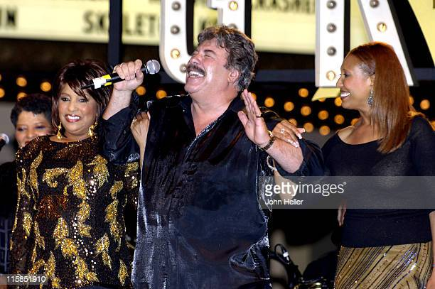 Joyce Vincent Tony Orlando and Telma Hopkins during Tony Orlando and Dawn Reunite at Grove Summer Concert Series in Los Angeles California United...