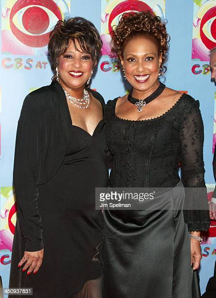 Joyce Vincent Wilson and Telma Hopkins during CBS at 75 at Hammerstein Ballroom in New York City New York United States