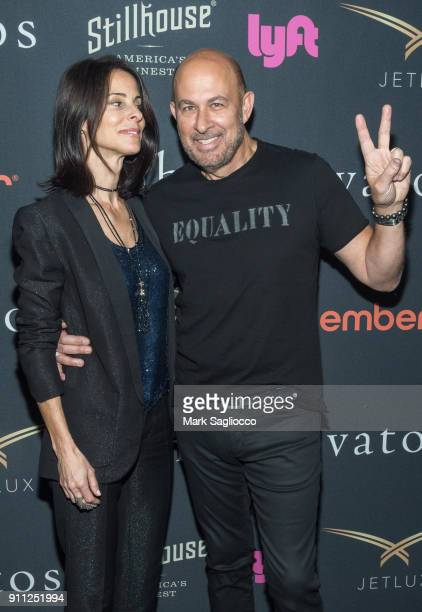 Joyce Zybelberg Varvatos and Designer John Varvatos attend the John Varvatos SS'18 Ad Campaign Launch Party on January 27 2018 in New York City