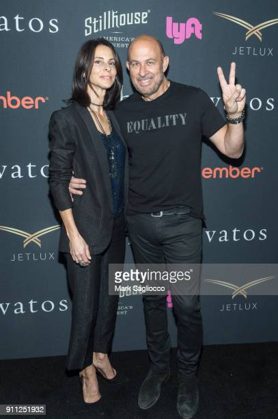 Joyce Zybelberg Varvatos and Designer John Varvatos attends the John Varvatos SS'18 Ad Campaign Launch Party on January 27 2018 in New York City