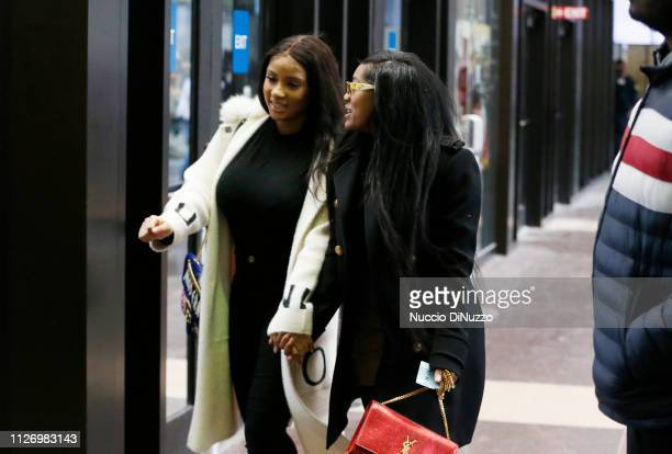 Joycelyn Savage and Azriel Clary arrive at the Leighton Criminal Courthouse for R. Kelly's first court appearance on February 23, 2019 in Chicago,...