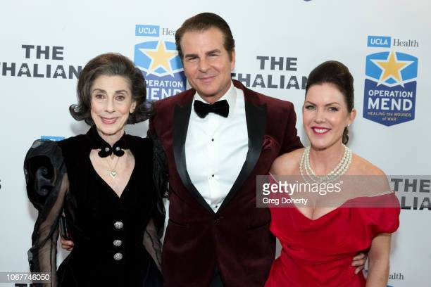 Joycie Figgett and Vincent de Paul join Kira Reed Lorsch as they attend The Thalians Holiday Party with Kira Reed Lorsch as Chair at Bel Air Country...