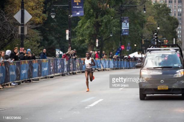 Joyciline Jepkosgei of Kenya competes in the New York City Marathon on November 3 2019 in New York City