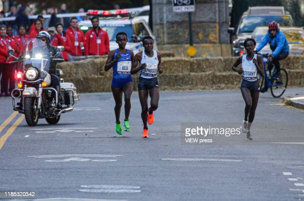 Joyciline Jepkosgei of Kenya the runner won the compete during the New York City Marathon on November 03 2019 in New York City