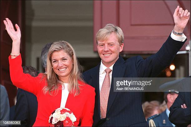 Joyeuse Entree' ceremony of Prince Willem Alexander and Maxima Zorreguieta in Northern Brabant in Brabant Netherlands on September 04 2001