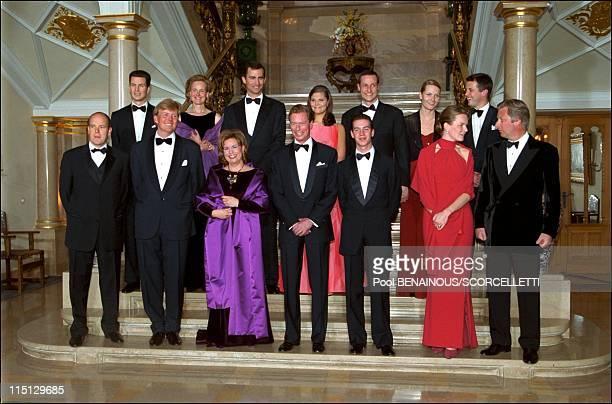 'Joyeuse Entree' Festivities for the Grand Duke Henri and Grand Duchess Maria Teresa in Luxembourg city Luxembourg on April 07 2001 Grand Duke and...