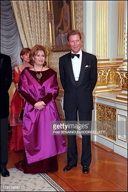 Joyeuse Entree Festivities for the Grand Duke Henri and Grand Duchess Maria Teresa in Luxembourg city Luxembourg on April 07 2001
