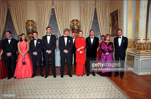 'Joyeuse Entree' Festivities for the Grand Duke Henri and Grand Duchess Maria Teresa in Luxembourg city Luxembourg on April 07 2001 Prince Haakon of...
