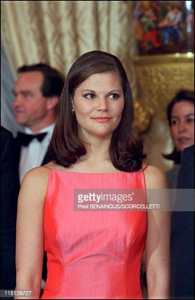 'Joyeuse Entree' Festivities for the Grand Duke Henri and Grand Duchess Maria Teresa in Luxembourg city Luxembourg on April 07 2001 Princess Victoria...