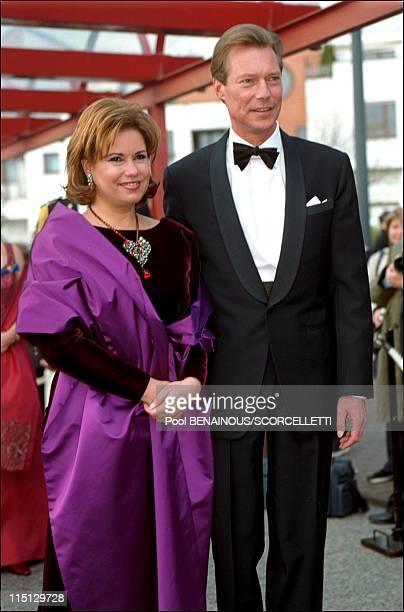 Joyeuse Entree Festivities for the Grand Duke Henri and Grand Duchess Maria Teresa in Luxembourg city Luxembourg on April 07 2001 Grand Duchess Maria...