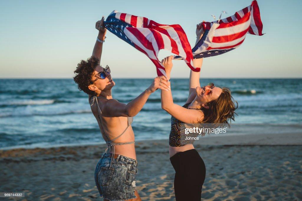Freudigen amerikanische Mädchen : Stock-Foto