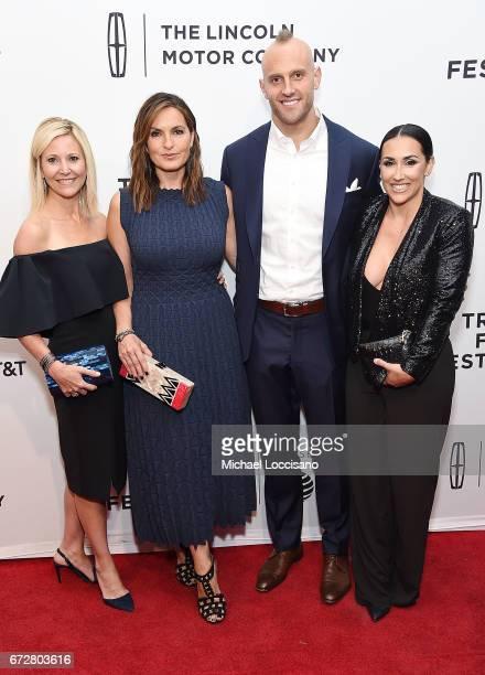 Joyful Heart CEO Maile M Zambuto Actress/Film Producer Mariska Hargitay professional football player Mark Herzlich and wife Danielle Conti Herzlich...