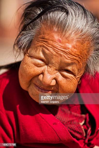 joyful senior lady smiling - merten snijders stock pictures, royalty-free photos & images