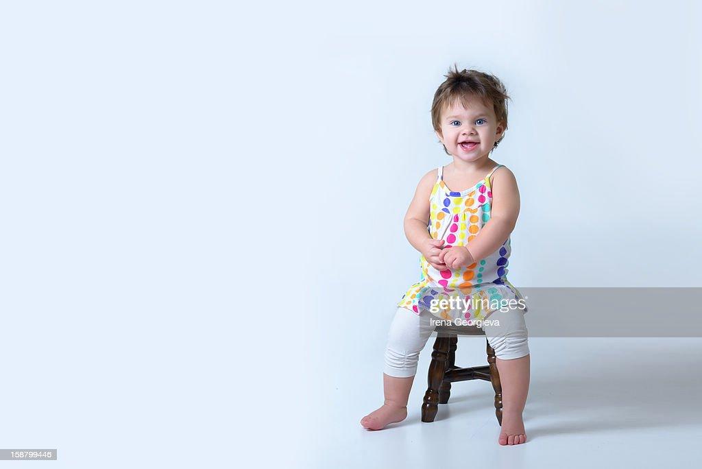 Joyful toddler : Stock Photo