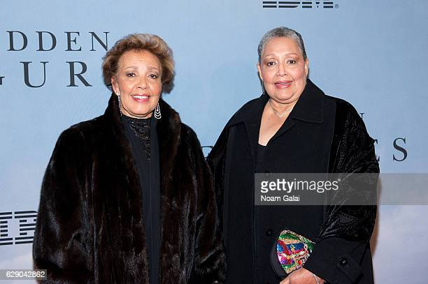 Joylette Hylick and Katherine Moore attend the Hidden Figures New York special screening on December 10 2016 in New York City
