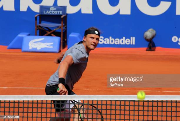 Jozef Kovalik against Dominic Thiem during the Barcelona Open Banc Sabadell on 26th April 2018 in Barcelona Spain