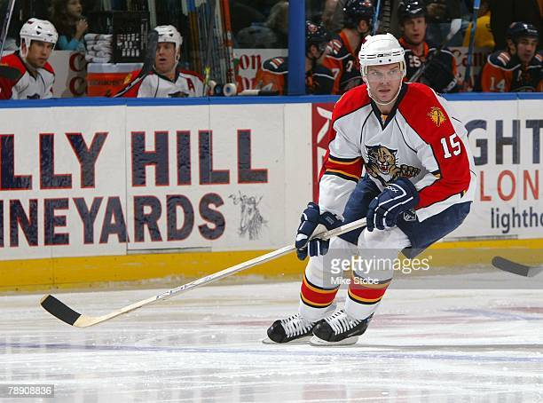 Jozef Stumpel of the Florida Panthers skates against the New York Islanders on January 3, 2008 at Nassau Coliseum in Uniondale, New York