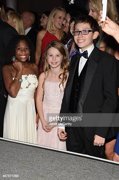 Jozlyn Arabelle and Jaiman of Children's National Health System attend Angel Ball 2014 hosted by Gabrielle's Angel Foundation at Cipriani Wall Street...