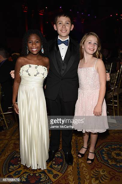 Jozlyn Jaiman and Arabelle of Children's National Health System attend Angel Ball 2014 hosted by Gabrielle's Angel Foundation at Cipriani Wall Street...