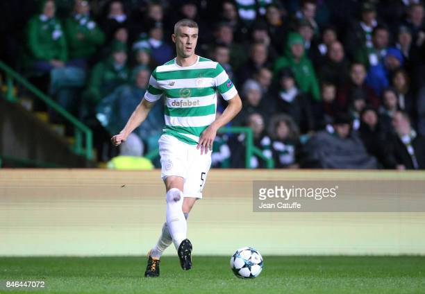 Jozo Simunovic of Celtic Glasgow during the UEFA Champions League match between Celtic Glasgow and Paris Saint Germain at Celtic Park on September 12...