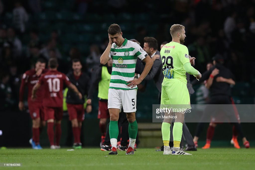 Celtic v CFR Cluj - UEFA Champions League Third Qualifying Round: Second Leg : News Photo