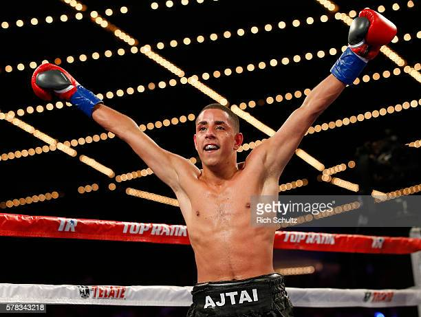 Jozsef Ajtai reacts after his Flyweight Championship bout against Zou Shiming of China on June 11 2016 at the Theater at Madison Square Garden in New...