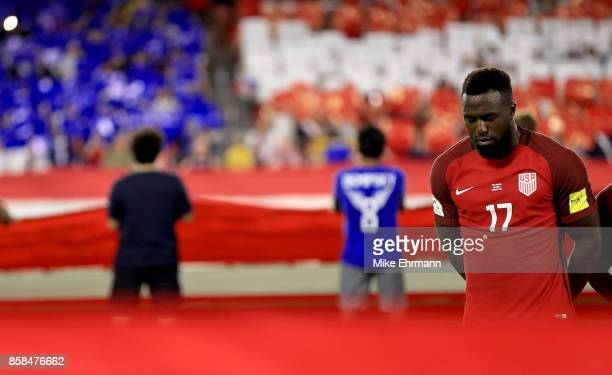 Jozy Altidore of United States looks on during the 2018 FIFA World Cup Qualifying match at Orlando City Stadium on October 6 2017 in Orlando Florida