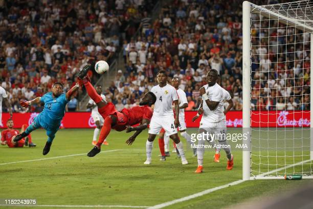 Jozy Altidore of USA scores a goal to make it 01 during the Group D 2019 CONCACAF Gold Cup match between Panama v United States of America at...