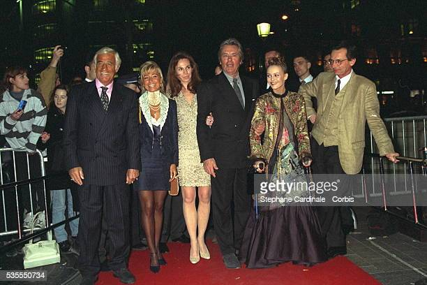 JPBelmondo Natty Rosalie ADelon VParadis PLeconte arrive at the Normandie cinema