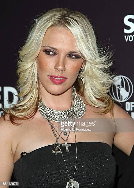 TV jpersonality Kayley Gable arrives at the Hollywood DC Lights Camera Election party held at the World of Wonder Storefront Gallery on Octorber 23...