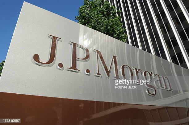 JPMorgan sign is seen outside the office tower housing the financial services firm's Los Angeles, California offices, August 8, 2013. US banking...
