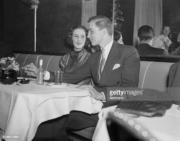 FD Jr at a New York Night Spot New York Barbara Cushing Boston society girl is pictured with Franklin D Roosevelt Jr son of the president at a local...