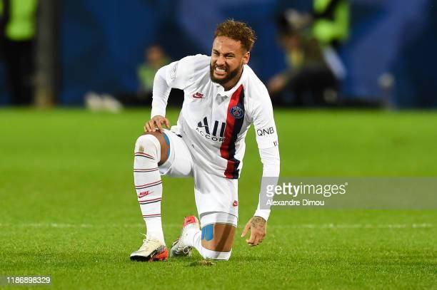 Jr of Paris Saint-Germain during the Ligue 1 match between Montpellier HSC and Paris Saint-Germain at Stade de la Mosson on December 7, 2019 in...