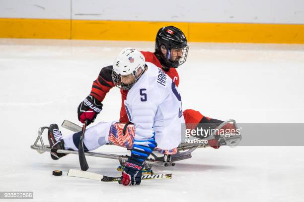 JR_Billy HANNING and Greg WESTLAKE during The Ice Hockey gold medal game between Canada and United States during day nine of the PyeongChang 2018...