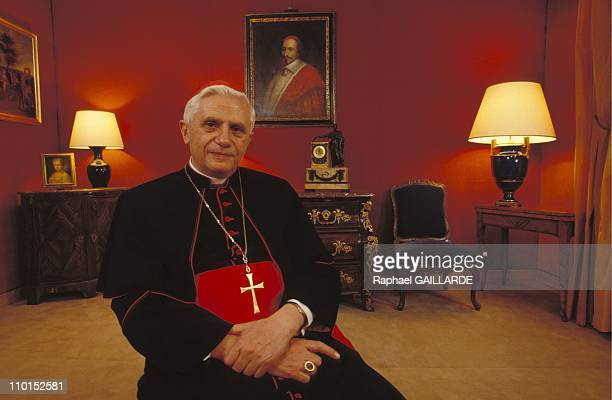 Ratzinger in the Academy of Sciences moral and politic in Paris France on November 08 1992